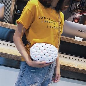 Image 4 - אופנה נשים עור מותניים תיק נשי שרשרת קלע כתף שקיות טלפון פאוץ גבירותיי חזה חגורת שקיות 2019 חדש