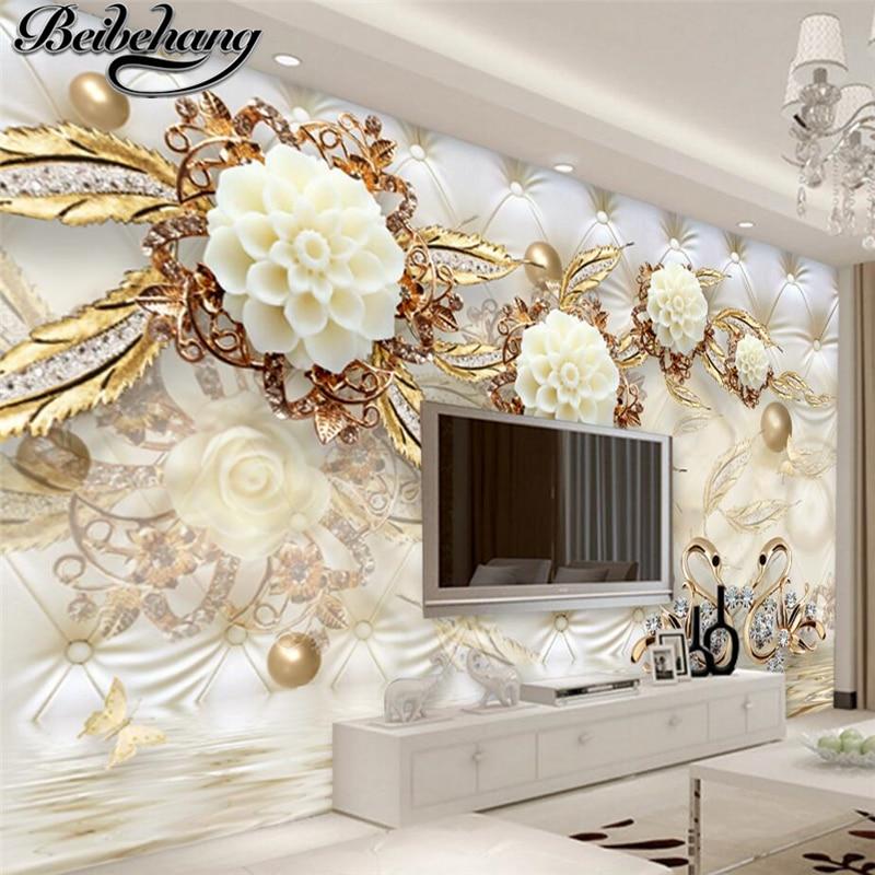 Beibehang custom photo mural wallpaper 3d luxury gold for 3d wallpaper for home amazon