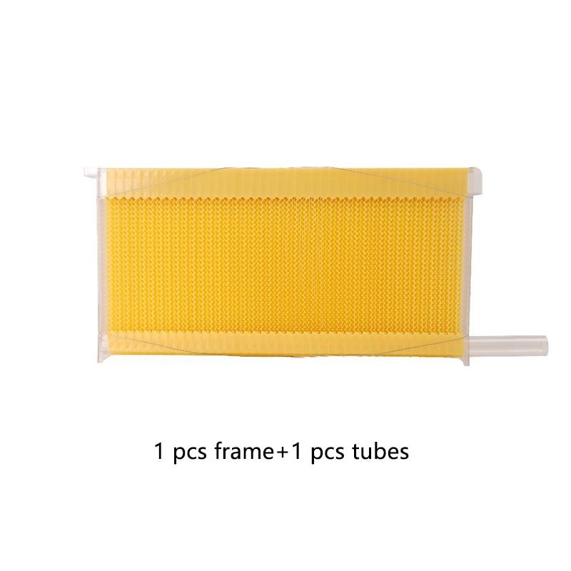 Автоматическая медовая Коллекционная рамка гнездо пчеловод пищевая пластиковая медовая расческа блок пчелиная селезенка коробка инструменты для пчеловодства - Цвет: 1 pc frame(1pc tube)