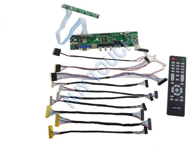 Free Shipping HDMI USB AV VGA ATV LA.MV29 LCD Controller Board +10 LVDS Cable USB Programmer Kit
