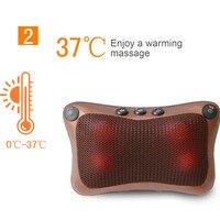 Neck Massager Car Home Cervical Shiatsu Massage Heated Waist Body Multifunctional Massage Electrical Back Neck Shoulder