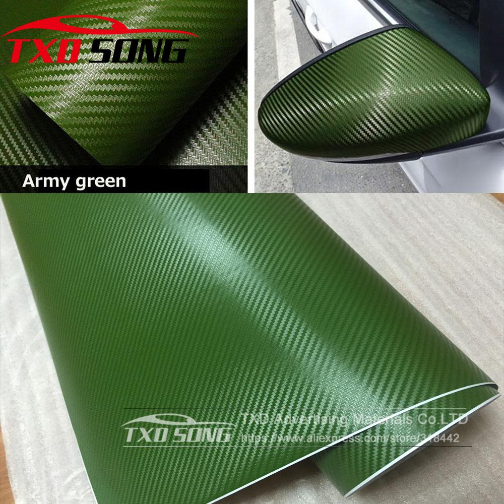 *3D Premium Matte Navy Blue Textured Carbon Fiber Car Vinyl Wrap Sticker Decal