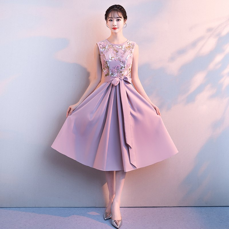 ruthshen 2018 New Sexy Scoop Neck Prom Dresses Sleeveless Appliques Long Formal Evening Gowns For Girls Special Parties Dresses in Prom Dresses from Weddings Events