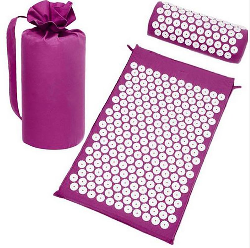 Lotus Acupuncture Mat Massage Yoga Mats Fitness Massage Cushion Acupuncture Massage Mat Acupressure Mat with Pillow Set Pad