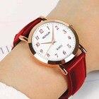 Rose gold dw style Women watch Fashion Ladies Brand Women Quartz Wrist clock Female Needle leather Wristwatch Relogio feminino