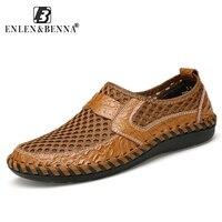 Summer Genuine Leather Sandals Men Water Trekking Shoes Casual Design Sneakers Men Beach Rubber Sandals Sport