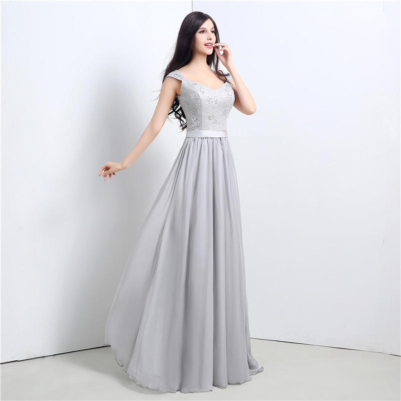 2018 Backlackgirl New Elegant High Quality Silver Bridesmaid Dresses