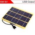 ELEGEEK 5W 5V DIY Solar Cell USB Output Solar Panel 210*200mm 1000mAh Monocrystalline Silicon Glass Fiber Laminated Solar Panel