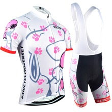 Womens Cycling Jersey Set Ropa De Camisa Ciclismo Short Sleeve Bike Clothing Sport Jerseys Cycling Set BXIO Brand BX-0209W021