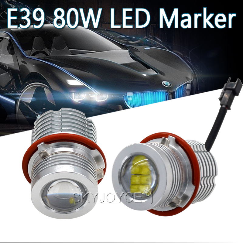 2018 High Quality 280W 160W E39 LED Marker Kit 80W LED Chips DRL 6500K White For E63 E65 E53 E83 E87 X3 X5 LED Angel Eyes E60 (15)