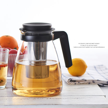 Glass cold water bottle teapot high temperature cold water bottle heat capacity large capacity home suite cool water bottle