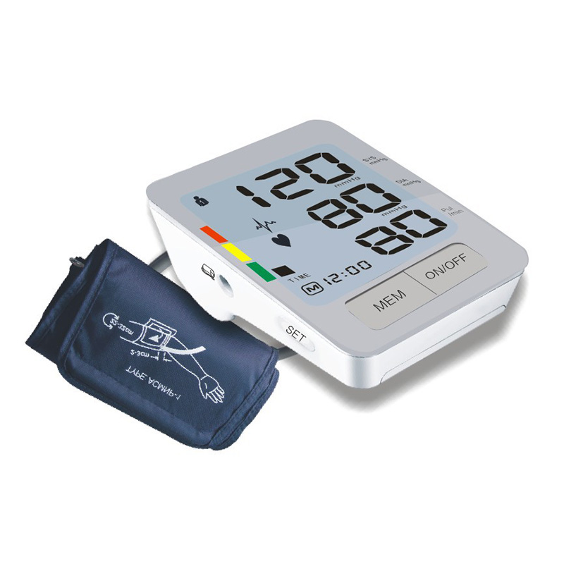 Hard Plastic Portable Home Care Full Automatic Digital Arm Blood Pressure Monitor Heart Beat Meter With LCD Display blood pressure monitor automatic digital manometer tonometer on the wrist cuff arm meter gauge measure portable bracelet device