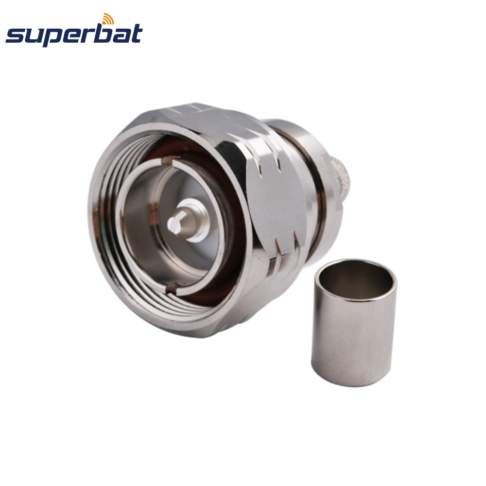 Superbat 7 16 Din Wireless Satellite Base Stations Connector Male Plug with O ring Crimp for