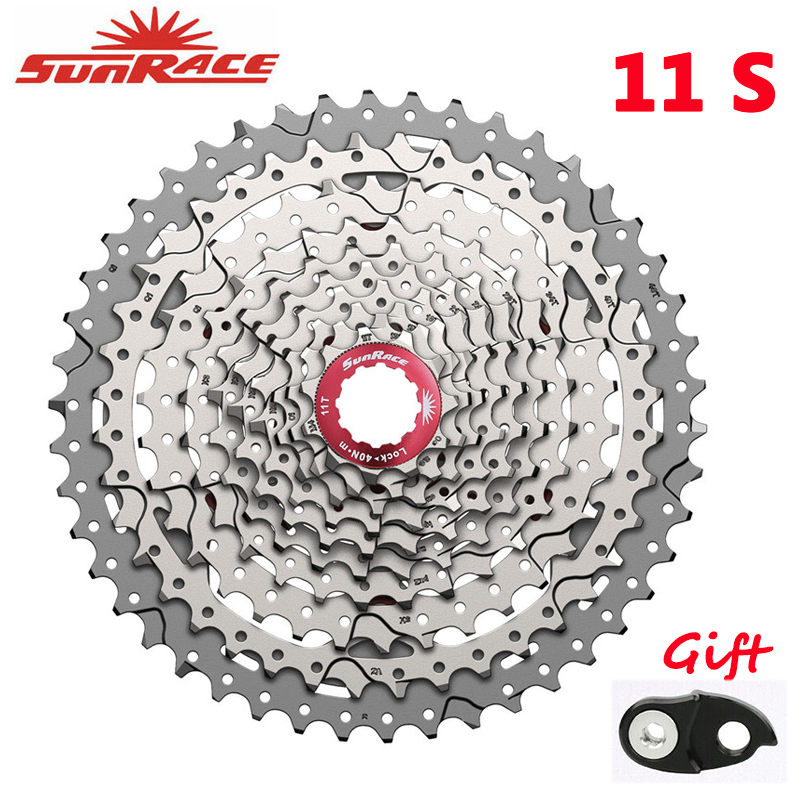 SunRace CSMS8 CSMX8 <font><b>11</b></font> Speed Cassette Wide Ratio Mountain Bike Freewheel Bicycle Cards type Flywheel <font><b>11</b></font>-40T <font><b>11</b></font>-<font><b>42T</b></font> <font><b>11</b></font>-46T image