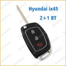 PREISEI 10 unids/lote 2 + 1 botones funda de llave con tapa remota para Hyundai IX45