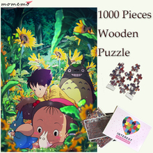 MOMEMO My Neighbor Totoro Wooden Puzzles Toy 1000 Pieces Miyazaki Anime Jigsaw Puzzle Adults Teenagers Kids Games