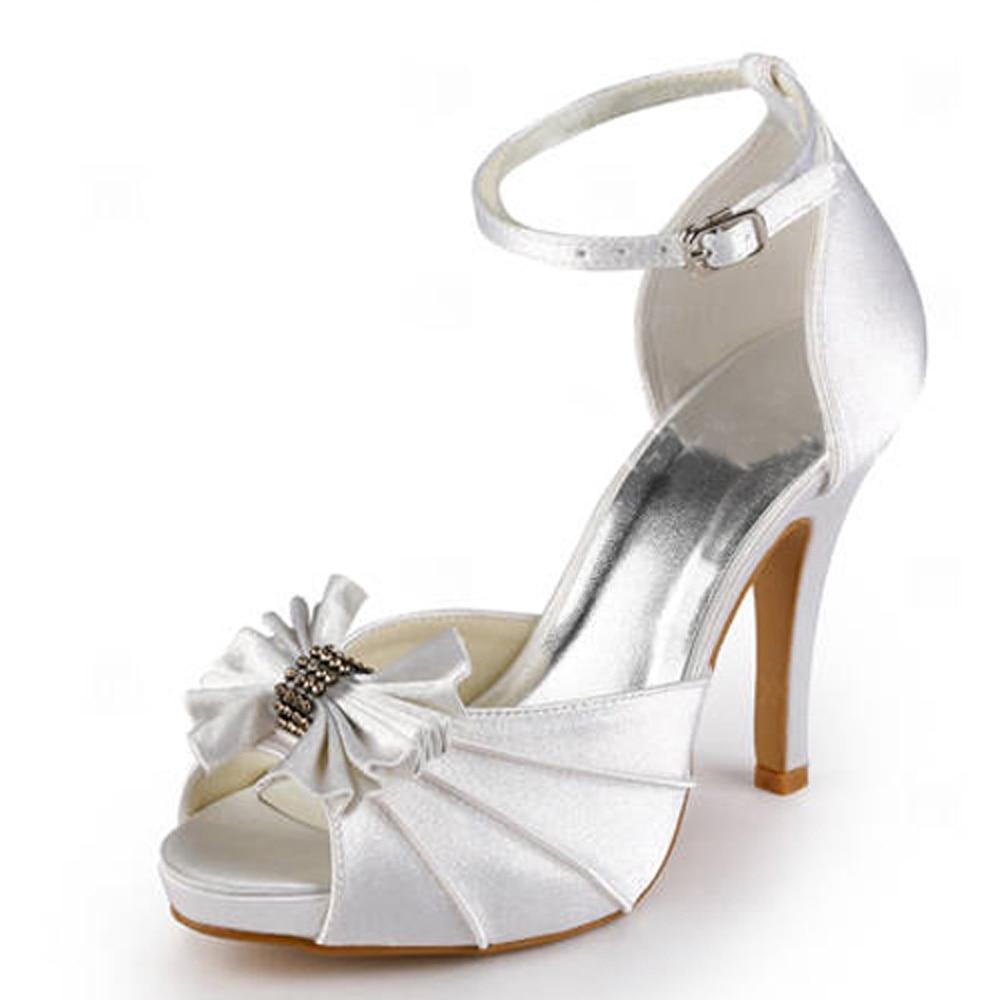 Shoes Woman EP11050 IP White Party Pumps Platforms Sandals ...