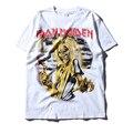 3D Печать Iron Maiden Футболка Черный Человек хип-хоп Уличной футболка хип-хоп лето моды Случайные О-Образным Вырезом Короткие Рукава Топ тройники