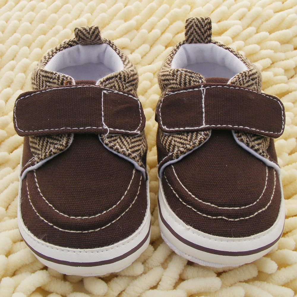 Hot Sale Newborn Toddler Baby Boy Girl Soft Sole Cotton Crib Shoes Prewalker Coffee Color 0-18M