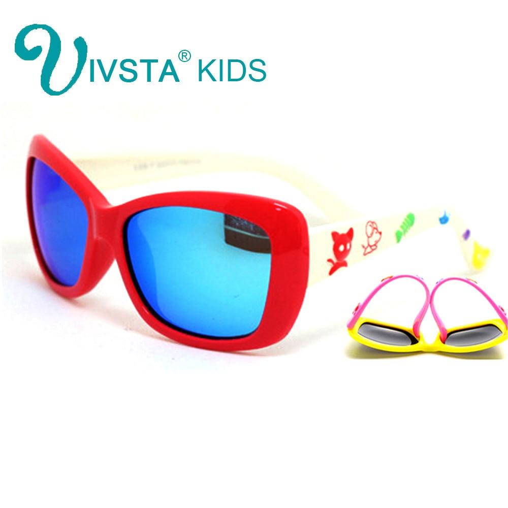 IVSTA Revo Mirror Sunglasses Boys Kids Glasses for Children rivet Square Polarized Fashion Sport Silicon Rubber Flexible 802M