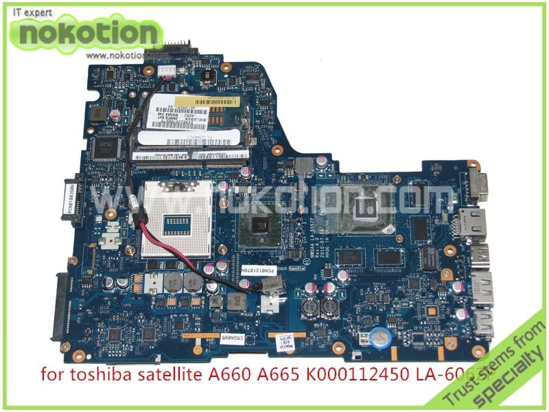 NOKOTION NWQAA LA-6062P REV 4.0 For toshiba satellite A660 A665 Motherboard K000112450 Intel HM55 Nvidia GeForce GT330M 1GB original for toshiba satellite a665 a660 laptop motherboard mother board k000104390 nwqaa la 6062p 100% test ok