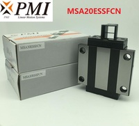 4pcs/lot Original Taiwan PMI MSA20E N MSA20ESSFCN linear guideway sliding block Carriage for CO2 laser machine MSA20E
