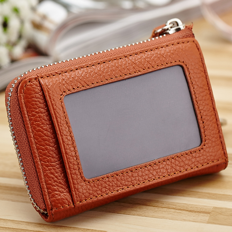COMFORSKIN Brand Design New Arrivals Fashion Square Shape Key Wallet 100 Genuine Leather Multi functional Coin Purse Best Price in Coin Purses from Luggage Bags