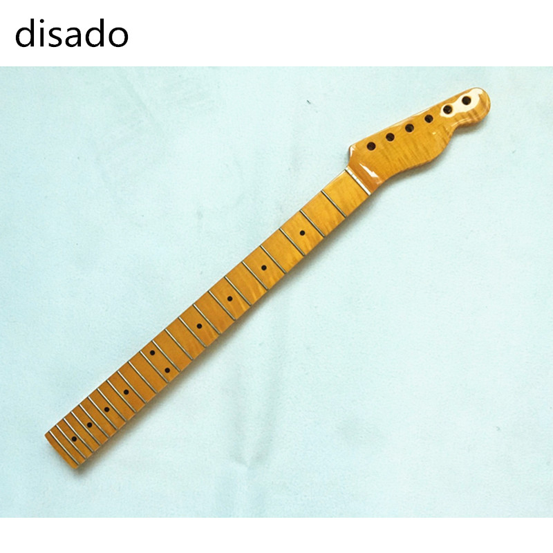 disado 22 Frets One Piece Tiger flame maple Electric Guitar Neck Guitar accessories Parts Musical instruments can be customized disado 21 frets tiger flame maple wood color electric guitar neck guitar accessories guitarra musical instruments parts