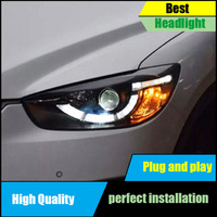 Car Styling for Mazda CX 5 Headlights 2013 2015 CX5 LED Headlight Angel Eyes DRL Bi Xenon Lens High Low Beam Parking Fog Lamp