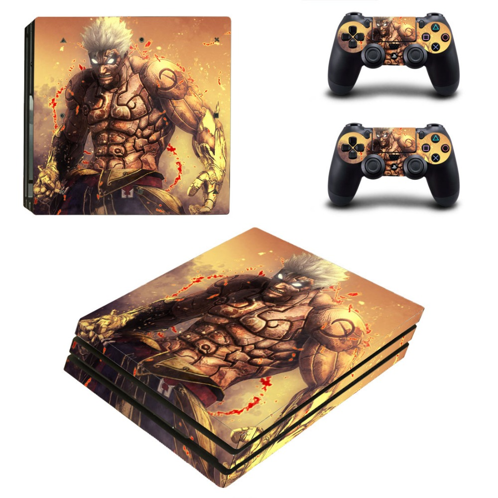 Newly Arrival For Playstation 4 PS4 PRO Console Game Decal Skin Stickers + 2 Pcs Stickers For PS4 PRO Controller