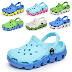 Summer Children Mule Clogs Fashion Cute Candy Color Beach Clog For Boys Girls Students Garden Clog Shoes Footwear
