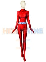 Clover Totally Spies Costume DyeSub 3D Printing Red Spandex Cosplay Fullbody Zentai Suit For Felame/Lady/Girl/Custom Made
