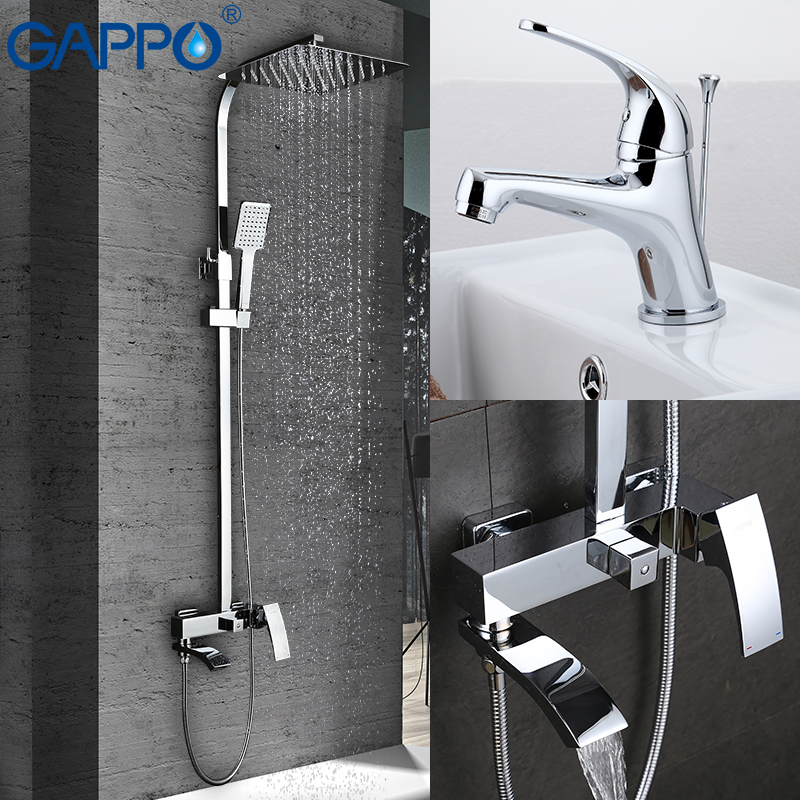 GAPPO Bathtub Faucets basin mixer tap bathroom faucet brass water sink mixer faucet bathroom waterfall faucet gappo bathroom faucet accessories faucet brass body bathtub sink mixer cold hot water restroom faucet in hand shower ga3007 5