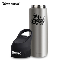 WEST BIKING Bicycle Water Bottle Bluetooth Music Kettle 750ML Stainless Steel Insulation Cup Sports Ciclismo Bike Cycling Bottle