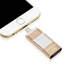2016 OTG USB Flash Drive U-Disk Micro USB interface 3 in 1 for Android/iPhone 5/6/5s/6/6sPlus iPad iPod/PC/Mac 16/32/64/128GB