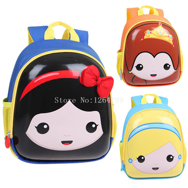 4ac8d26f88 New Fashion Princess Snow White Beauty and the Beast Belle Cinderella Girls  EVA School Bags Kids Backpack For Children