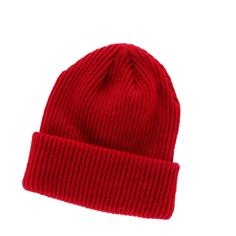 46ae99d3af4 ... Candy Color Winter Hats for Women Knitted Cotton Men Beanie Casual Cap  Warm Hats Bonnet Girl ...
