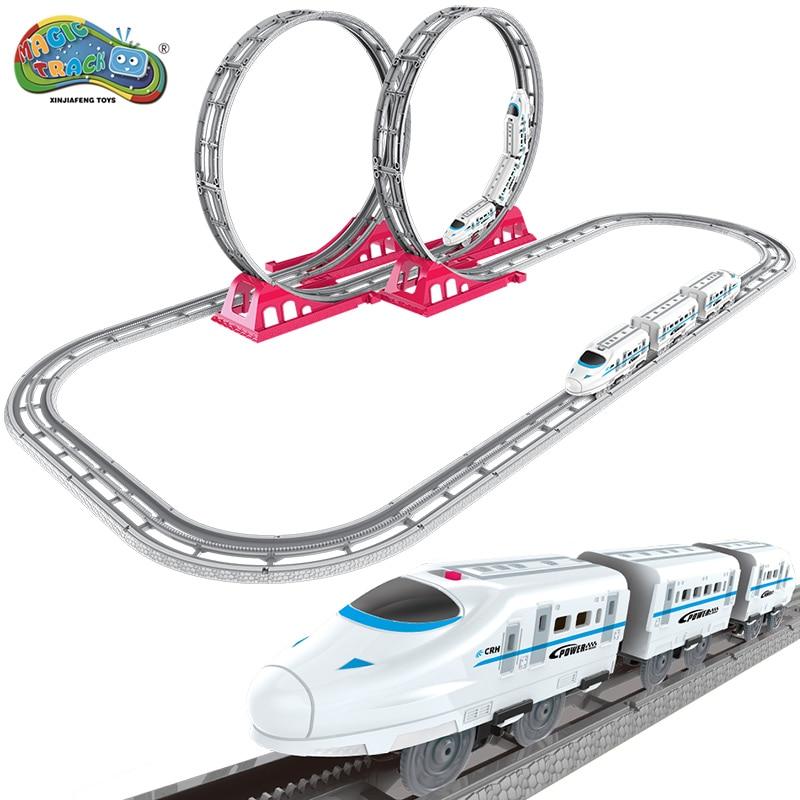 Magic Track Harmony High-speed Race Track treinen Slot Elektrisch - Auto's en voertuigen