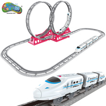 Magic Track Harmony Kecepatan tinggi Balap Jalur kereta Slot Model Listrik Mini Rail Mobil Simulasi Kecepatan Tinggi Motor kereta Mainan untuk Anak