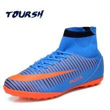 e7abe3d3c0771 TOURSH zapatillas Botas De fútbol al aire libre Chuteira Futebol fútbol  Botas De Futbol Con Tobillera Zapatos De deporte masculi.