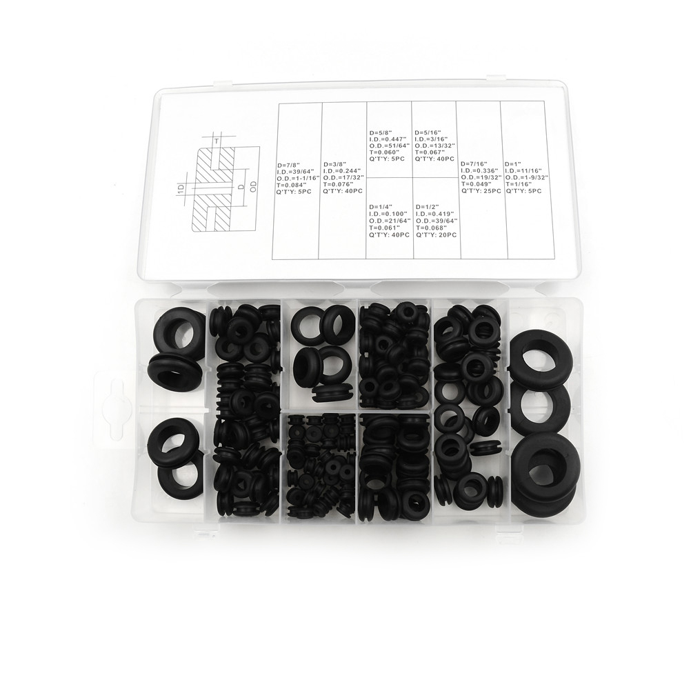 7 8 Wire Harness Grommet Free Download Grommets 180pcs Rubber Set Firewall Hole Plug Retaining Ring