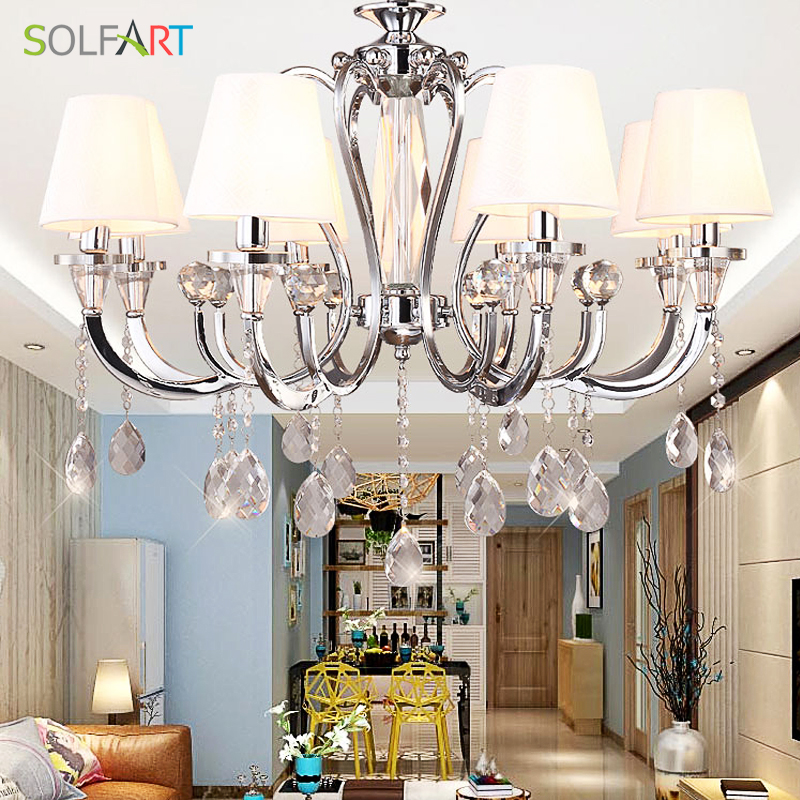 Chandeliers Lighting LED Modern Light Fixtures Crystal Lustres Chandeliers And Pendants For Room Dining