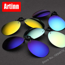High quality Polarized Clip On Sunglasses Driving Night Vision Lens Sun Glasses Anti-UVA Anti-UVB For Women & Men C2235