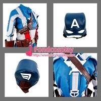 Капитан Америка Стив костюм для комиксов куртка пальто костюм для Косплей индивидуальный заказ [G1328]