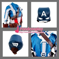 Captain America Steve Rogers Outfit Jacket Coat Cosplay Costume Tailor made[G1328]