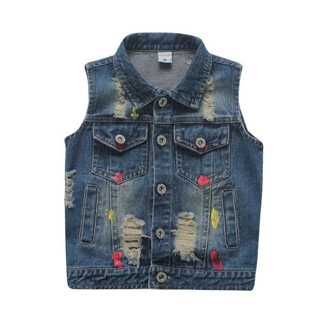 98boy Hole Clothes Kids Cowboy For In Autumn Waistcoat 3 Outerwear 7yrs Boys Baby Vests Broken Vest Jacket Spring Style Us20 Children 2018 Denim lK1cFJT