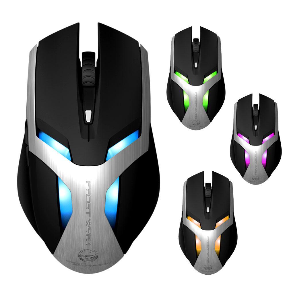 DSstyles souris Gamer équipe Scorpion gel respiration 6 couleurs souris de jeu pour PC souris livraison directe
