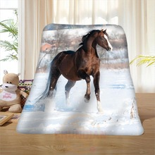 P#100 Custom Horse#9 Home Decoration Bedroom Supplies Soft Blanket size 58×80,50X60,40X50inch SQ01016@H+100