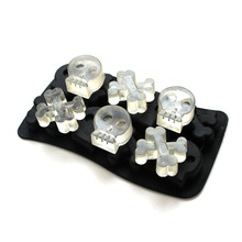 Nicole Silicone Mold Ice Cube Tray 3D Skull Shape Jelly Pudding Bar Party Chocolate Candy Forms