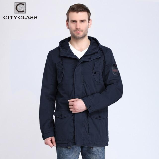 City class 2017 мужские 100% хлопок ветровки куртки и пальто случайные свободные промывают нескольких цветов с капюшоном со шнурком 3796